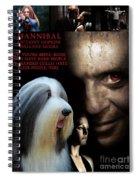 Bearded Collie Art Canvas Print - Hannibal Movie Poster Spiral Notebook
