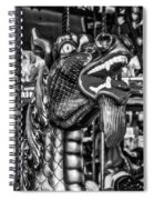 Bearded Dragon Ride Black And White Spiral Notebook