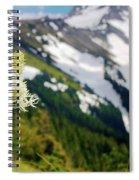 Beargrass Flower On The Slopes Of Mt. Hood Spiral Notebook