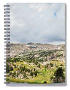 Beartooth Mountains Panorama Spiral Notebook