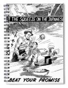Beat Your Promise Cartoon  Spiral Notebook