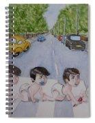 Beatles Abbey Road .... Babies Spiral Notebook