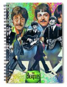 Beatles Fan Art Spiral Notebook