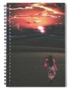 Beauties Of The Desert At Sunset Spiral Notebook