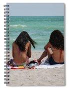 Beauties On The Beach Spiral Notebook
