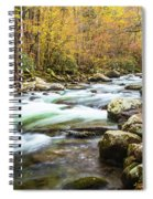 Beautiful Autumn Colors Little Pigeon River Smoky Mountains Spiral Notebook