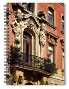 Beautiful Balcony In Austria Spiral Notebook