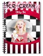 Beautiful Blonde Woman Serving Ice Cream Spiral Notebook