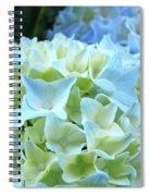 Beautiful Blue Hydrangea Floral Art Prints Creamy White Pastel Spiral Notebook