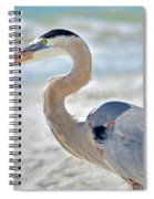 Beautiful Blue On The Beach Spiral Notebook