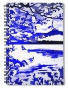 Beautiful Blue Pop Art Scene Spiral Notebook