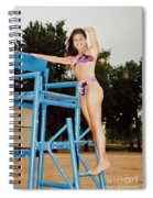 Beautiful Brunette Model At The Beach Spiral Notebook