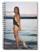 Beautiful Brunette On The Beach Spiral Notebook