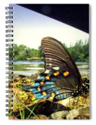 Beautiful Butterfly At The River II Spiral Notebook