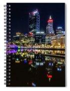 Beautiful Cityscape At Perth's Elizabeth Quay  Spiral Notebook