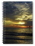 Beautiful Clearwater Sunset Spiral Notebook