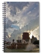 Beautiful Clouds Over Buckingham Fountain Spiral Notebook