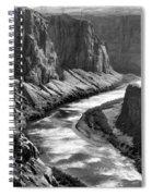 Beautiful Colorado River Page Arizona Blk Wht  Spiral Notebook