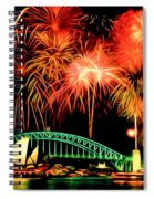 Beautiful Colorful Holiday Fireworks 2 Spiral Notebook