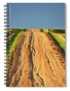 Beautiful Colors Along A Saskatchewan Country Road Spiral Notebook
