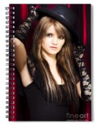 Beautiful Costumed Young Showgirl Spiral Notebook