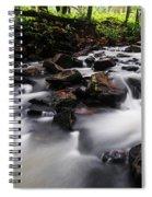 Beautiful Creek In Western Ghats Region Of Karnataka State India Spiral Notebook