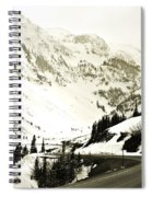 Beautiful Curving Drive Through The Mountains Spiral Notebook