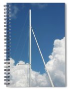 Beautiful Day At The Marina - Mast And Clouds - Color Spiral Notebook