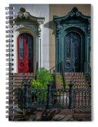 Beautiful Doors On Bull Street Spiral Notebook