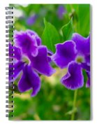 Beautiful Duranta Flower Blossoming Spiral Notebook