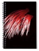 Beautiful Fire Works With Splash Of Red Color.  Spiral Notebook