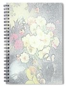Beautiful Flower Sketch  Spiral Notebook