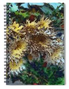 Beautiful Flowers In A Group Spiral Notebook