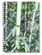 Beautiful Green Leaf Bamboo Spiral Notebook