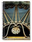 Beautiful Italian Metal Scroll Work Spiral Notebook