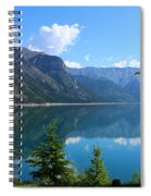 Beautiful Lake Minnewanka Spiral Notebook