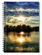 Beautiful Light Of The Golden Hour Spiral Notebook