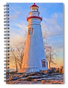 Beautiful Marblehead Lighthouse Spiral Notebook