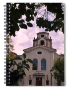 Beautiful Mason Hall - Pomona College - Trees Framing Spiral Notebook