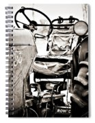 Beautiful Oliver Row Crop Old Tractor Spiral Notebook