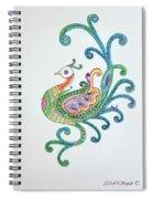 Beautiful Peacock Spiral Notebook