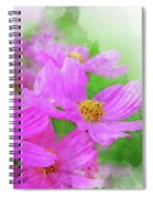 Beautiful Pink Flower Blooming For Background. Spiral Notebook