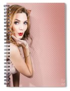 Beautiful Portrait Of 1950 Model Girl In Pin Up Spiral Notebook