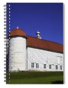 Beautiful Red Roof Barn Spiral Notebook