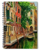 Beautiful Side Canal In Venice Spiral Notebook