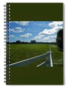 Beautiful Sky At The Farm Spiral Notebook