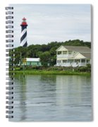 Beautiful St Augustine Lighthouse Waterfront Spiral Notebook