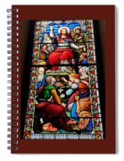 Beautiful Stained Glass At Emmanuel Church Baltimore # 5 Spiral Notebook