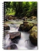 Beautiful Stream In Western Ghats Region Of Karnataka India Spiral Notebook