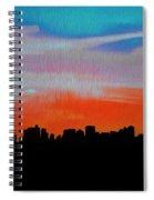 Beautiful Sunset Oil Paint Spiral Notebook